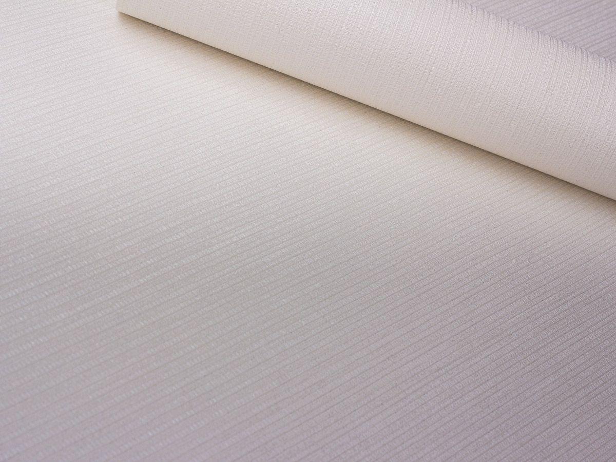 Papel De Parede Texturizado Linho Riscado Branco Perolado - 87075