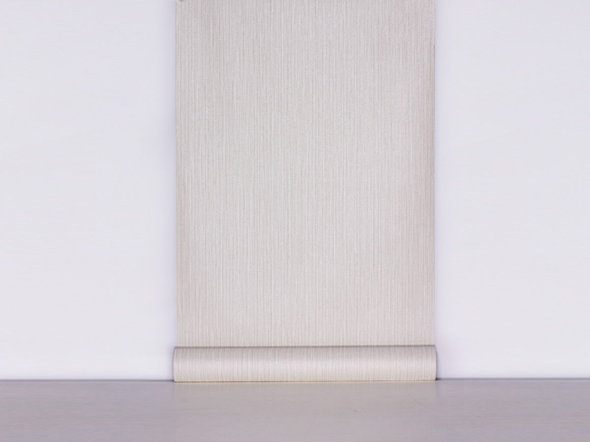Papel De Parede Texturizado Linho Riscado Cinza Gelo - 87071