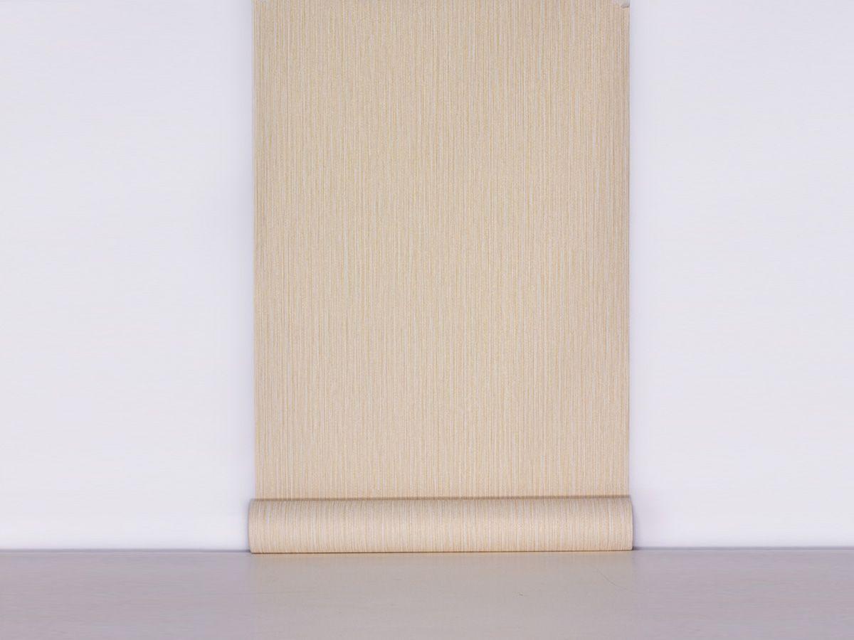 Papel De Parede Texturizado Linho Riscado Palha - 87073
