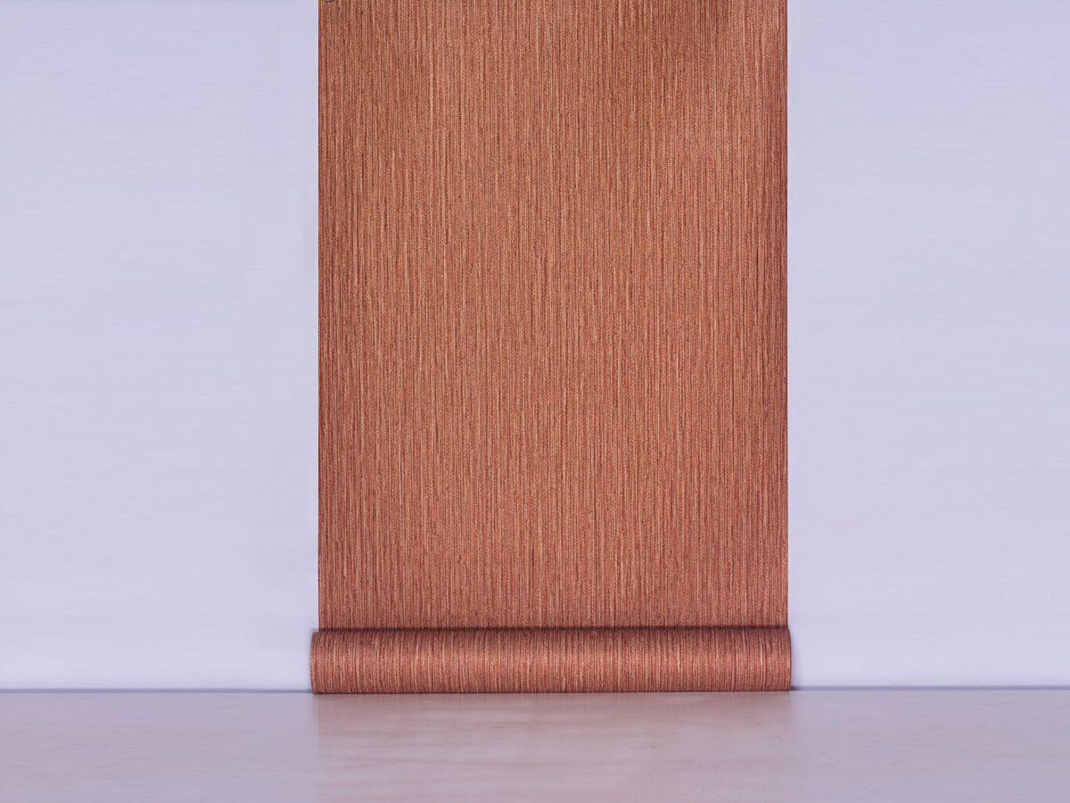 Papel De Parede Texturizado Linho Riscado Tijolo Terracota - 87070