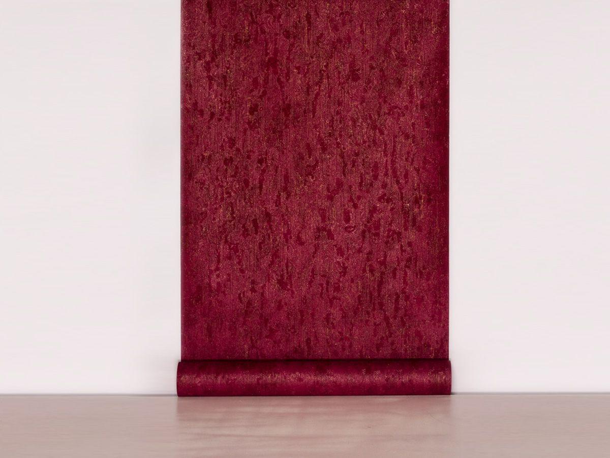 Papel De Parede Texturizado Linho Vermelho - 87060