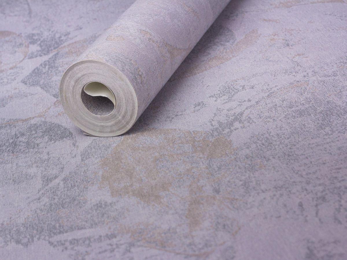 Papel De Parede Texturizado Manchado Cinza Envelhecido - 87154