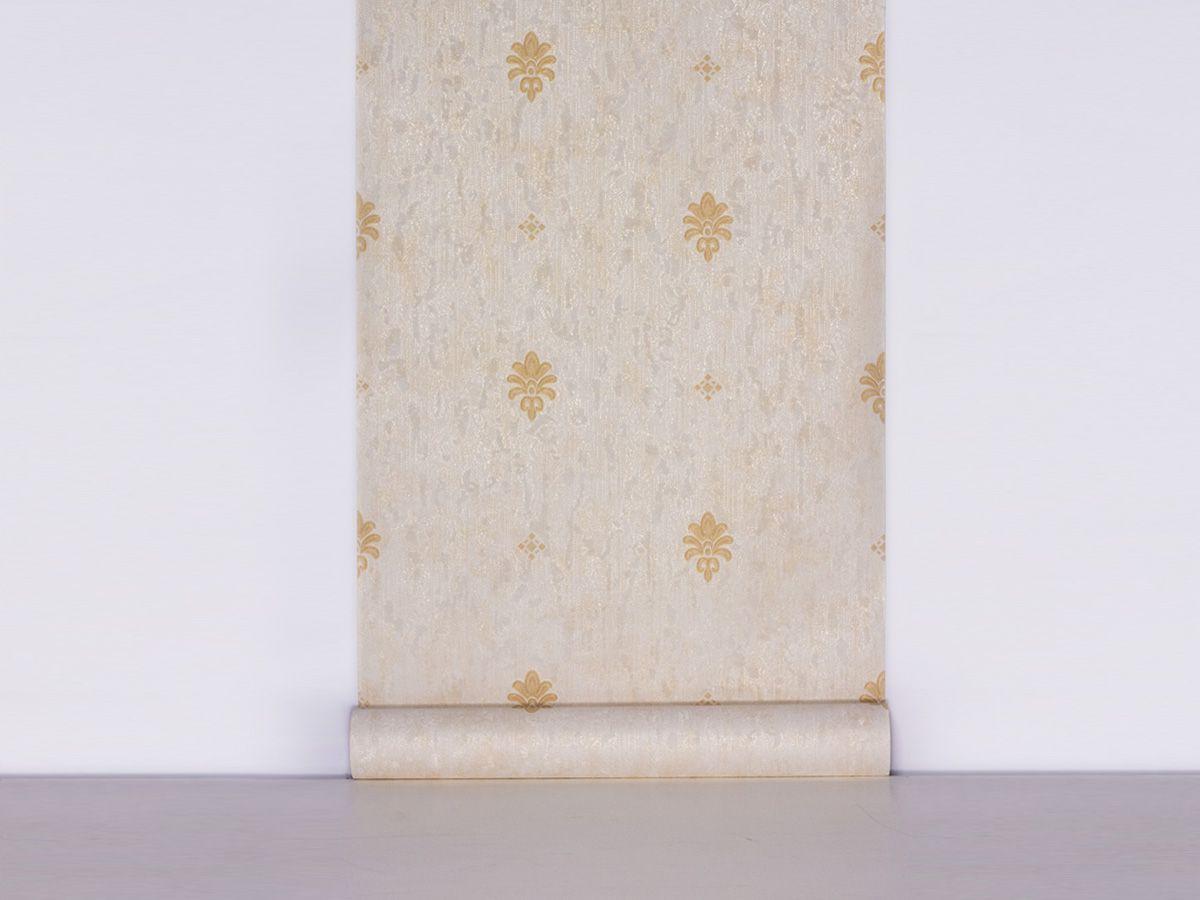 Papel De Parede Texturizado Mini Arabesco Palha E Ambar - 87042