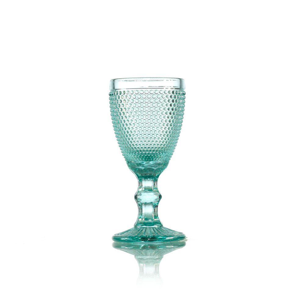 Jogo de Taças de Vidro Injertada Cores - 5 x 10,5 cm - 6328