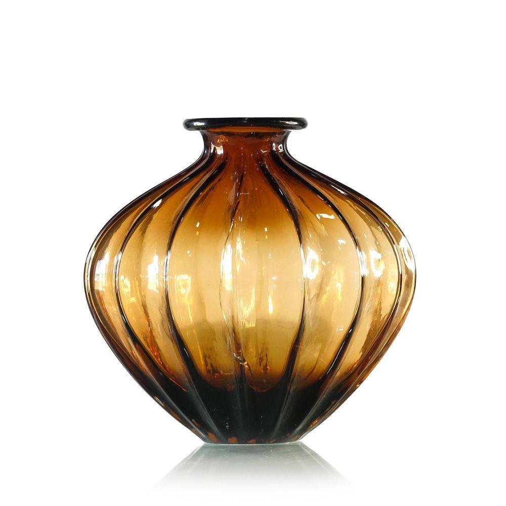 Vaso Bojudo de Vidro Color - 20 x 7,5 cm - 6359
