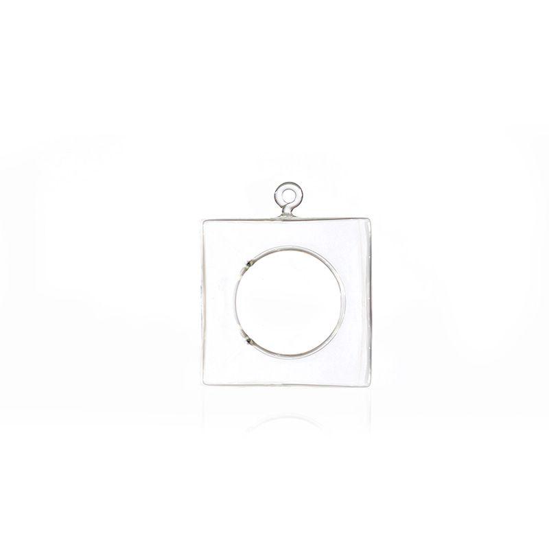 Vaso de Vidro Suspenso Quadrado - 10 x 10,5 cm - 6366