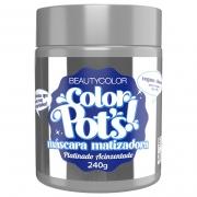 Color Pot's Máscara Matizadora Platinado Acinzentado 240g - Beauty Color