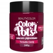 Color Pot's Máscara Pigmentante Vermelho Candy 240g - Beauty Color