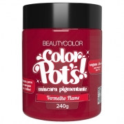 Color Pot's Máscara Pigmentante Vermelho Flame 240g - Beauty Color