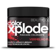 Máscara Colorante Xplode Vermelho Flame 300g - Beauty Color