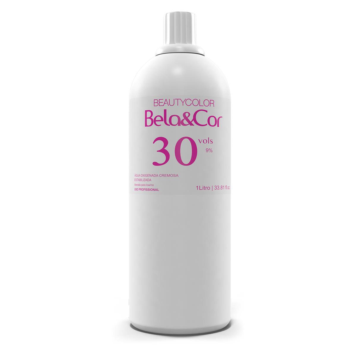 Água Oxigenada 30 volumes 1 Litro - Bela&Cor