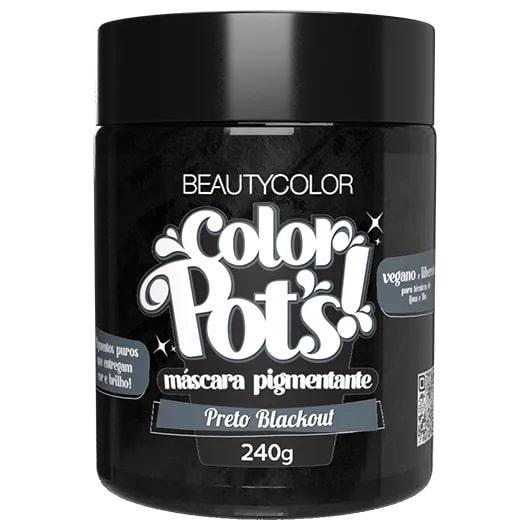Color Pot's Máscara Pigmentante Preto Blackout 240g - Beauty Color