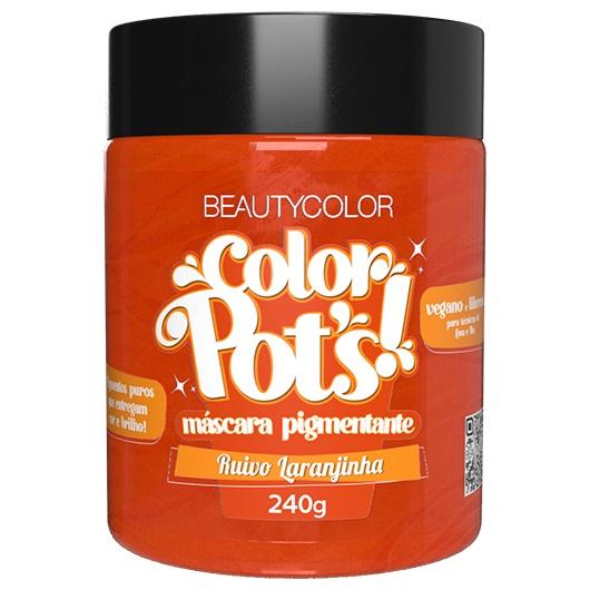 Color Pot's Máscara Pigmentante Ruivo Laranjinha 240g - Beauty Color