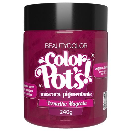 Color Pot's Máscara Pigmentante Vermelho Magenta 240g - Beauty Color