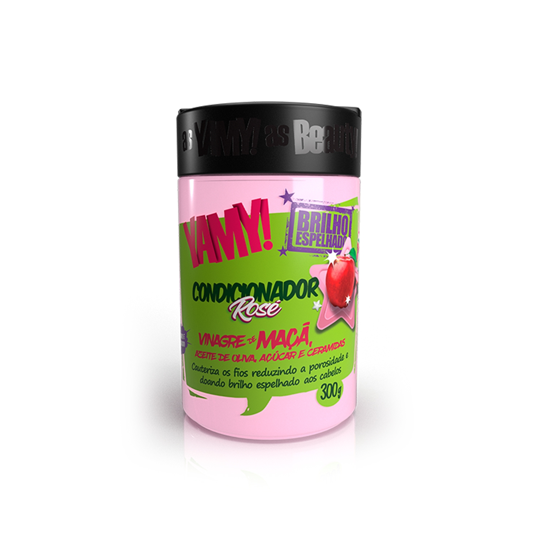 Condicionador Rosé Vinagre de Maçã Brilho Espelhado 300g - YAMY!