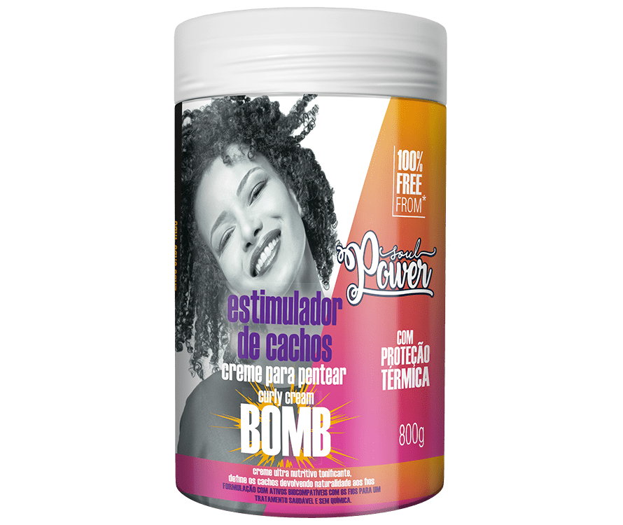 Creme de Pentear Curly Cream BOMB 800g - Soul Power