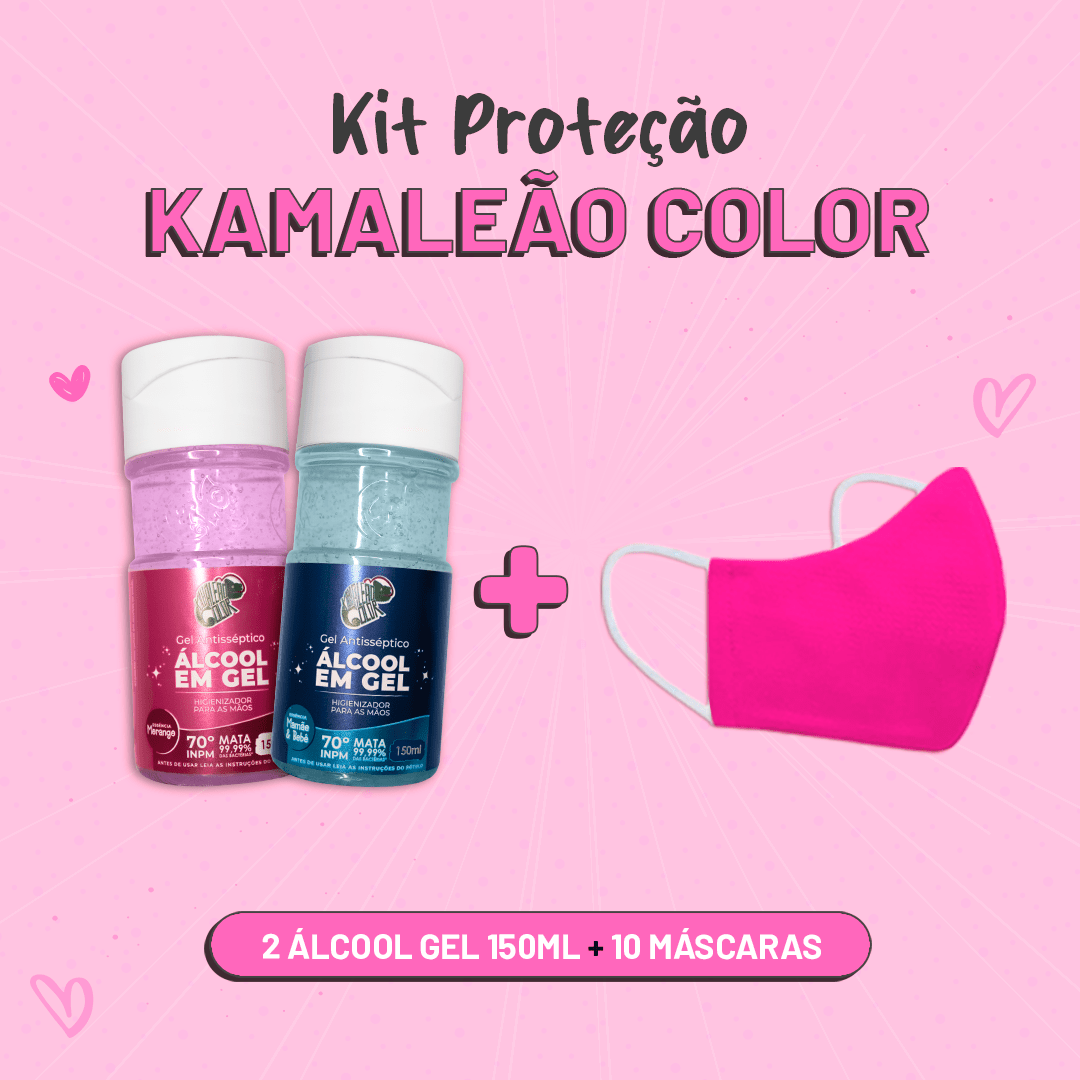Kit de Proteção Kamaleão Color - Rosa