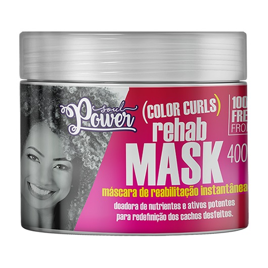 Máscara de Reabilitação Color Curls Rehab Mask 400g - Soul Power