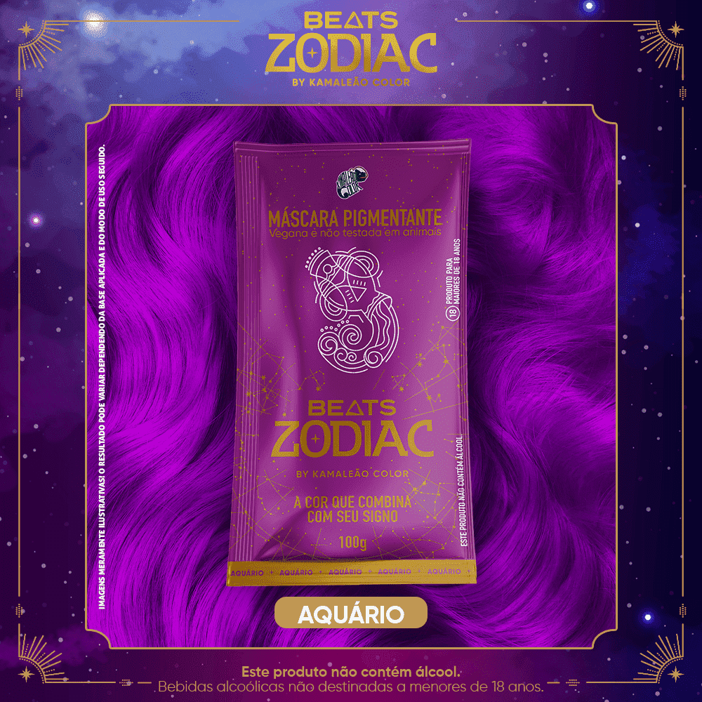 Máscara Pigmentante - Aquário 100g - Beats Zodiac by Kamaleão Color
