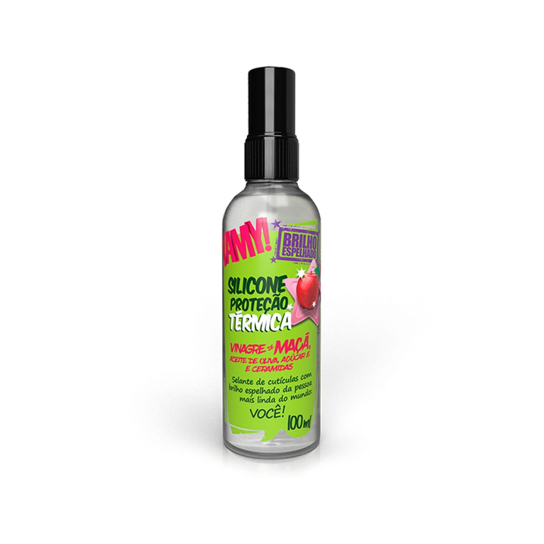 Silicone Proteção Térmica Vinagre de Maçã Brilho Espelhado 100ml - YAMY!