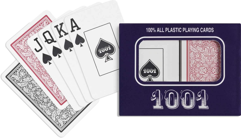 Baralho 1001 Plástico Naipe Grande - Versão Econômica
