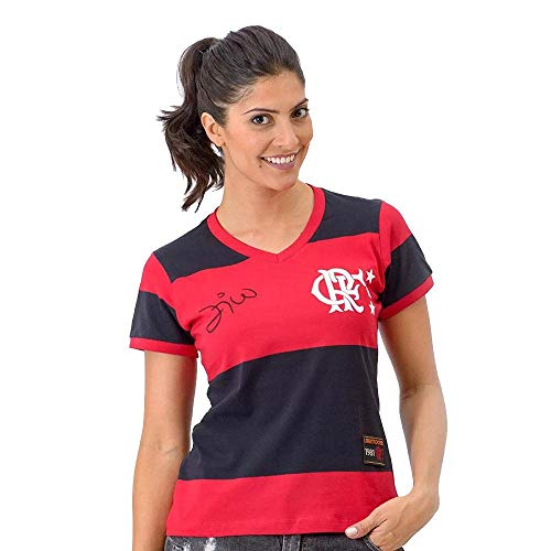 Camiseta Do Zico Flamengo Braziline Feminina