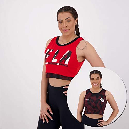 Cropped Flamengo Feminina Zoom Dupla Face Braziline