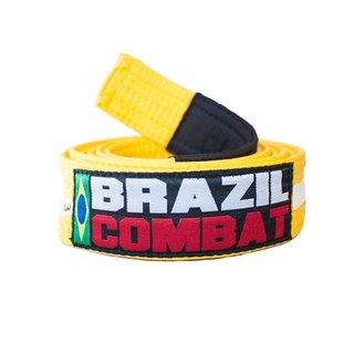 FAIXA BRAZIL COMBAT AMARELO/BRANCO