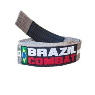FAIXA BRAZIL COMBAT CINZA/BRANCO