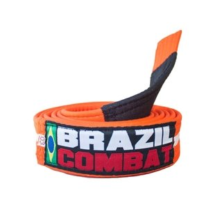 FAIXA BRAZIL COMBAT LARANJA/BRANCO