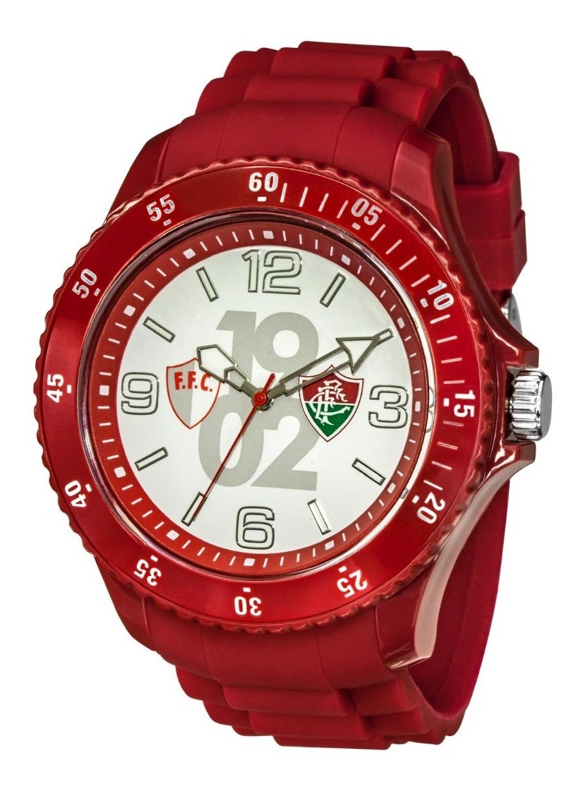 Relógio Oficial Do Fluminense - Vermelho