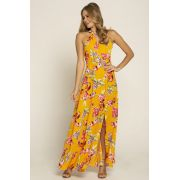 Vestido Estampado Floral Costas Abertas