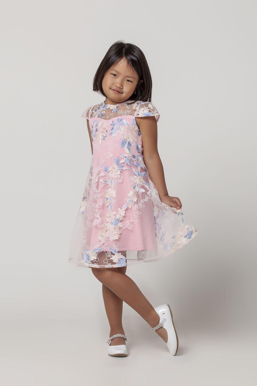 Vestido Infantil Inteiro Bordado
