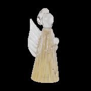 Anjo de Murano Cristais Labone - Cor Bege Champanhe Pequeno