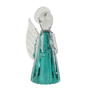 Anjo de Murano Cristais Labone - Cor Verde Esmeralda Pequeno