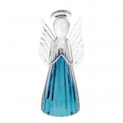 Anjo de Murano D'Labone - Cristal Duma Azul Aquamarine Grande