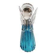 Anjo de Murano D'Labone - Cristal Duma Azul Aquamarine Médio