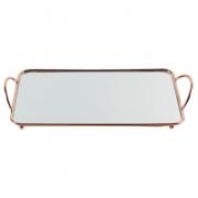 Bandeja Espelhada para Decoração - Cobre / Rosé Gold 35x19cm