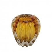 Cachepot de Murano / Objeto Decorativo Âmbar - Importado