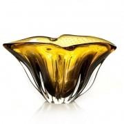 Cachepot De Murano São Marcos - Cristal Âmbar com Lilás 36cm