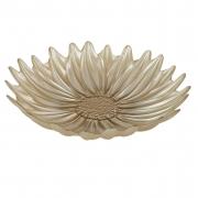 Centro de Mesa de Vidro Formato Flor Âmbar Champanhe - 30cm