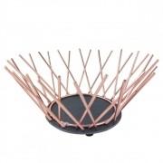 Centro de Mesa Fruteira Decorativa de Metal - Cobre 27cm