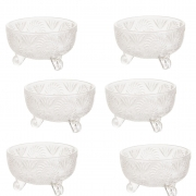 Conjunto de Bowls de Vidro / Taças de Sobremesa (6 Peças)