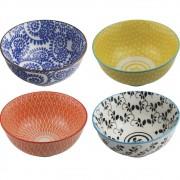 Conjunto de Bowls Decorativos em Estampas Sortidas - Classic (4 Peças)
