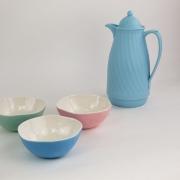 Conjunto De Bowls Multiuso - Rosa, Verde e Azul (3 Peças)
