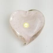 Coração de Murano Rosa - Objeto Decorativo