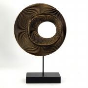 Escultura Abstrata Pequena - Objeto Decorativo em Madeira