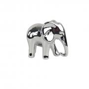 Escultura de Elefante De Cerâmica - Objeto Decorativo Prata