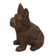 Escultura Decorativa De Cachorro Buldogue Francês Em Resina