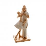 Escultura Decorativa De Família: Papai, Mamãe E Dois Filhos